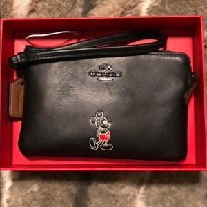 Coach and Mickey wristlet